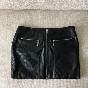 Bebe Faux Leather Mini Skirt